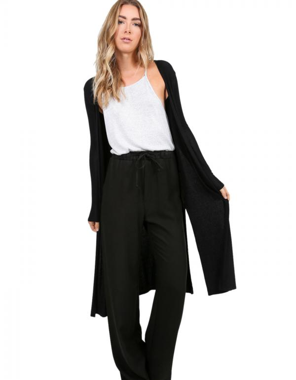 long line-slit-cardigan